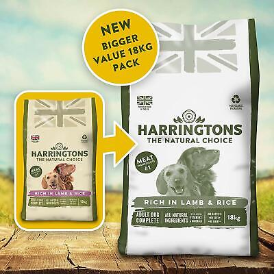 Harringtons Dry Adult Dog Food Complete Rich in Lamb and Rice Harrington 18 kg