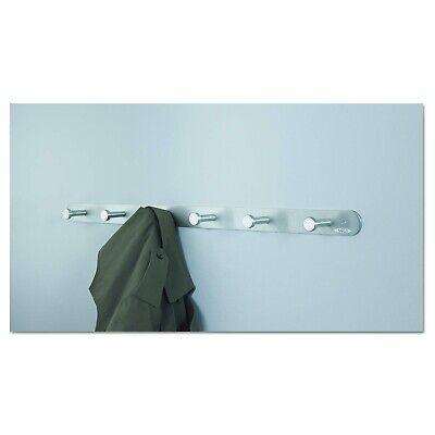 Six Hook Wall Coat Rack, Satin Aluminum