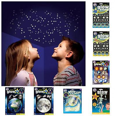 Glow in the Dark Sterne ★ 2D und 3D Planeten Sticker Aufkleber fluoreszierend