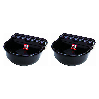 Little Giant 88esw Steel All Purpose Automatic Stock Waterer Black 2 Pack