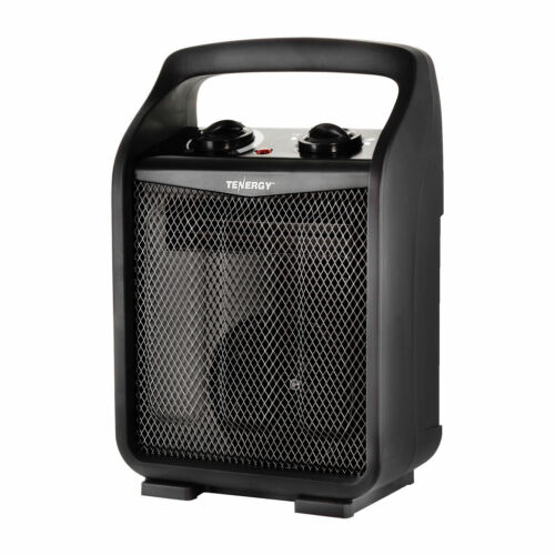 Tenergy 1500w/750w Space Heater Adjustable Thermostat Air Electric Fan Heater