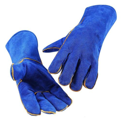 14 Inch Leather Welding Gloves For Tig Welders/Mig/Fireplace/Stove/BBQ/Gardening