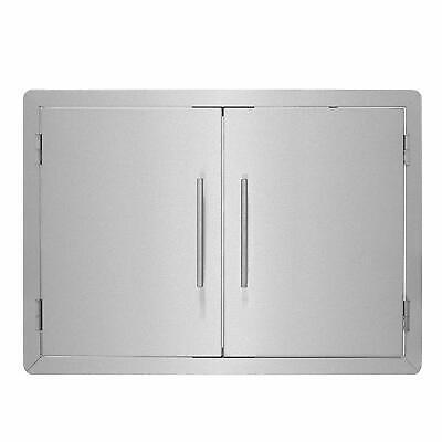 AdirHome 30 in. Double Door Panel Stainless Steel Outdoor BBQ Access Island Door