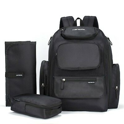 Luisvanita Diaper Bag Baby Backpack with Stroller Straps Changing Pad & Organ...