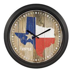 404-3840TX La Crosse Clock Co. 15.75 Indoor/Outdoor Wall Clock - Texas