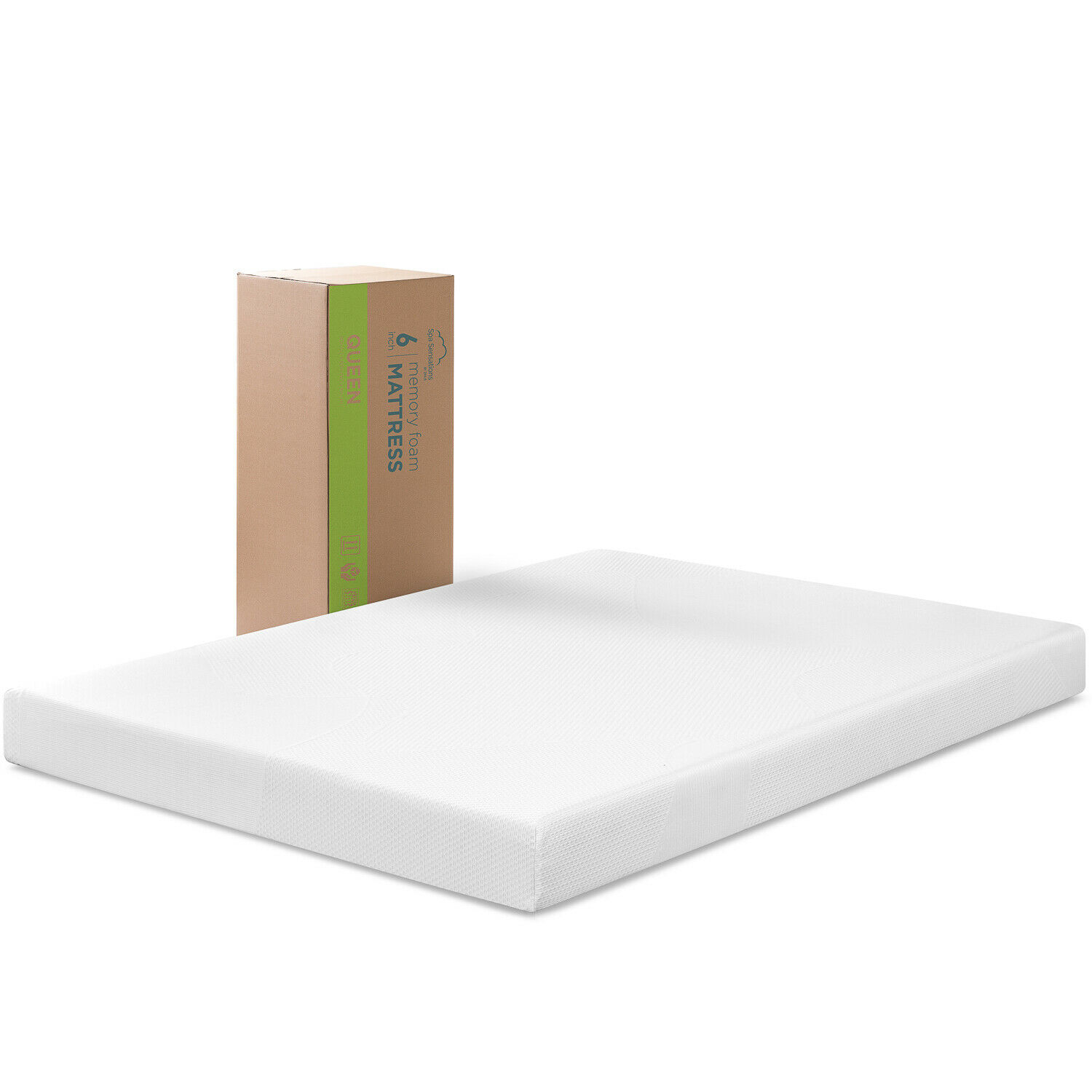 Spa Sensations 6'' Memory Foam Mattress, Size: Twin