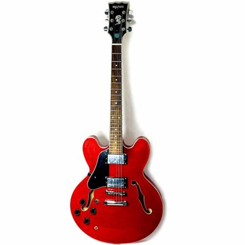 Musoo 335 style left hand Jazz Electric Guitar Flame Maple top Semi-Hollow Body