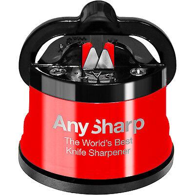 Knife Sharpener AnySharp Classic RED World's Best 100% Genuine