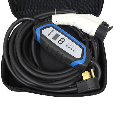 Duosida Blue 25 Feet Level 2 EV Electric Car Charger 32A 220-240V NEMA 14-50P