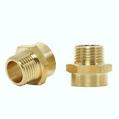 2 Pack Female G 12 Thread To Male Npt 12 Thread Pipe Fitting Adapter Brass