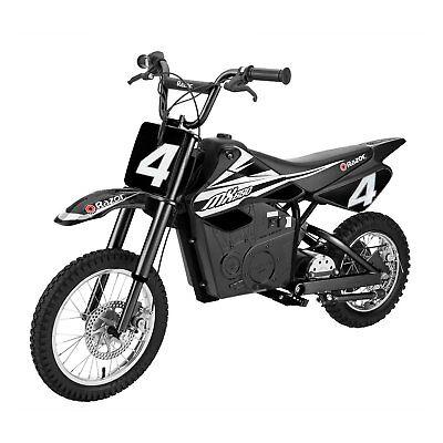Razor MX650 17 MPH Steel Electric Motor Dirt Bike for Teens 16+, Black