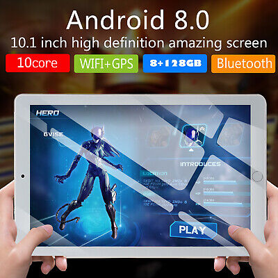 """10.1"""" Android HD Tablet PC 8+128GB  4G-LTE Dual SIM Card Phone WIFI Camera US"""