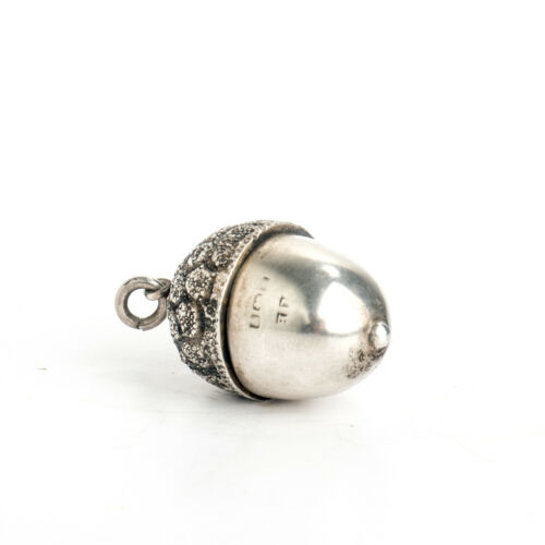 Pendant Vinaigrette Charm Sterling Silver Novelty Acorn Form Antique c1820