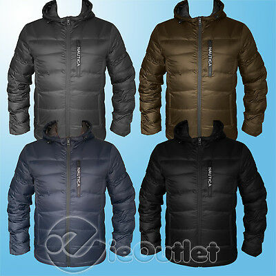 NAUTICA ULTRALIGHT DOWN WATER RESISTANT PUFFER QUILTED HOODED PARKA JACKET COAT