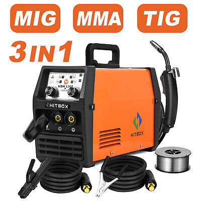 Hitbox 3 In1 Mig Welder Inverter 220v Lift Tig Arc Wire Gasless Welding Machine
