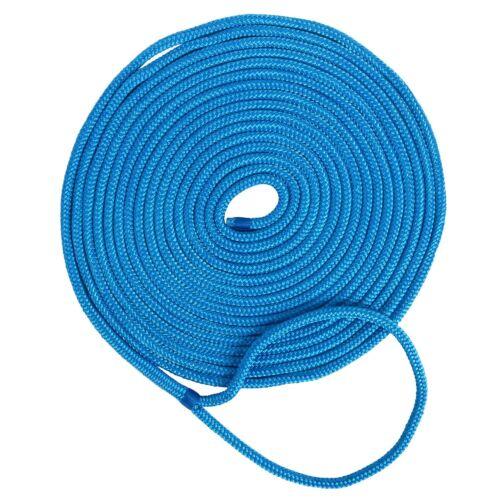 "1/2"" *35ft Double Braid Nylon Dock Line Mooring Rope Double Braid Dock Line-Blue"