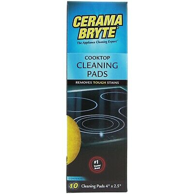 Ceramic Cooktop Stovetop Cleaning Pads Sponges Household Mess Eliminator, 10 -