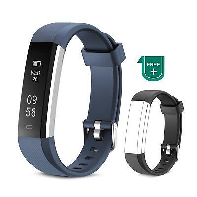 Fitness Tracker Muzili Impermeabile Sport orologio Touchscreen colore blu