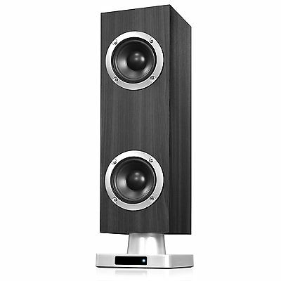 $18.29 - Powerful Home Tabletop Tower Bluetooth Stereo System Speaker With FM Radio Gray