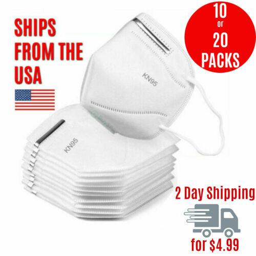 10 Pack KN95 Face Mask Cover Protection Respirator Masks K-N95