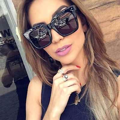 Large Oversized Square Sunglasses Women Fashion Thick Retro Frame Gradient (Thick Square Sunglasses)