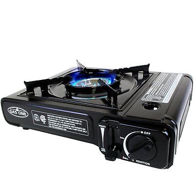 Used Gas One Gs 3000 Portable Gas Stove With Carrying Case  9 000 Btu