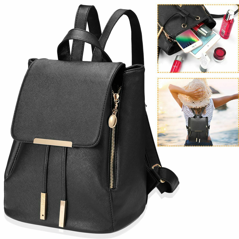 cc309b16f338 Details about Women Backpack Girls Ladies School Travel Shoulder Bag  Leather Rucksack Daypack