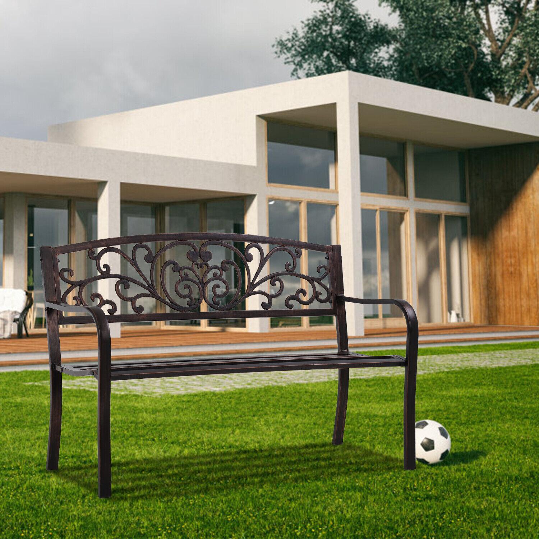 Garden bench for Patio outdoor bench Metal Bench Park Bench Cushion Benches