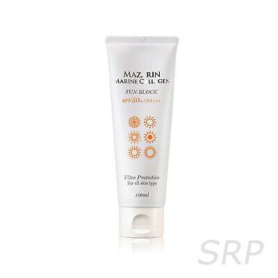 Sunblock Spf 100 (ROSEE Mazarin Marine Collagen Sun Block 100ml SPF 50+ PA+++ For All Skin Type)