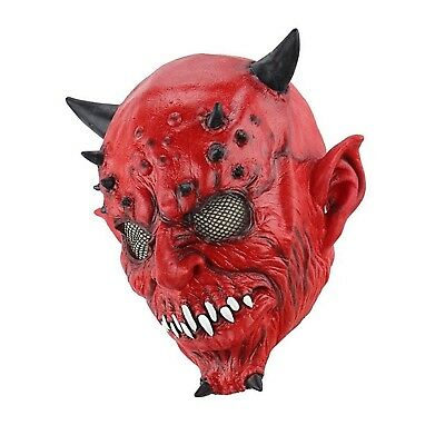Bloody Face (Creepy Scary Halloween Cosplay Costume Mask evil face bloody satan devil)
