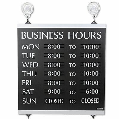 Headline Sign Century Series Business Hours Sign Heavy-duty Plastic 13 X 14
