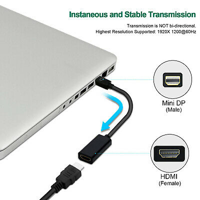 Thunderbolt Mini Display Port DP To HDMI Adapter for Apple MacBook Air Pro 2Pack Consumer Electronics