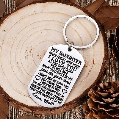 to My Daughter Keychain Christmas Gifts for Daughter from Mom Dad Father Insp... ()