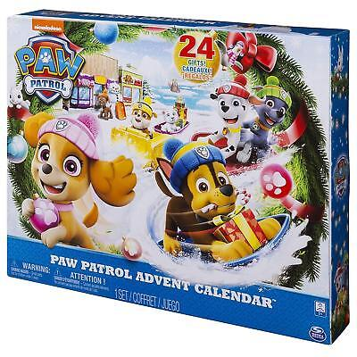 Paw Patrol Advent Calendar with 24 Collectible Gift Figures Behind 24 Doors