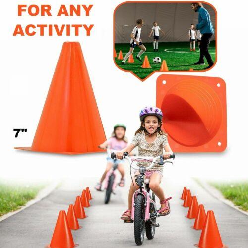 "Sport Training Cones Traffic Safety School Activity Soccer Football Cone Set 7"""