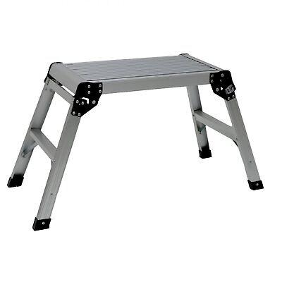 NEW! 150kg Folding Aluminium Work Platform Step Up Bench Ladder EN131