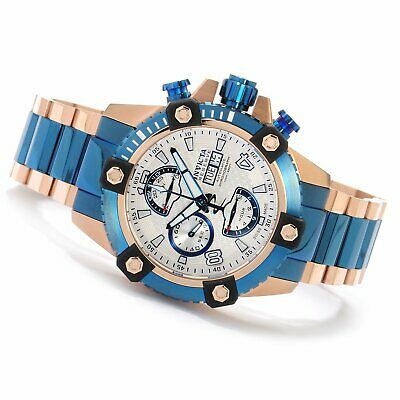 Invicta Mens Reserve Arsenal Swiss Made VALJOUX 7750 Automatic Blue Style Watch