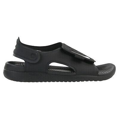 Nike Sunray Adjust 5 Sandalen Badeschuhe Sneaker Kinder AJ9076 001 Schwarz