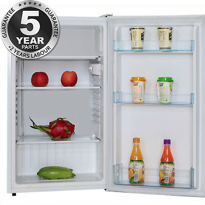 SIA LFS01WH 49cm Free Standing Under Counter Larder Fridge In White | A+ Rating