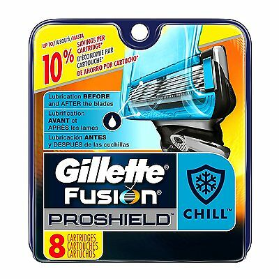 Gillette Fusion ProShield Chill Men Razor Blade Refills 8 Count Made in Germany