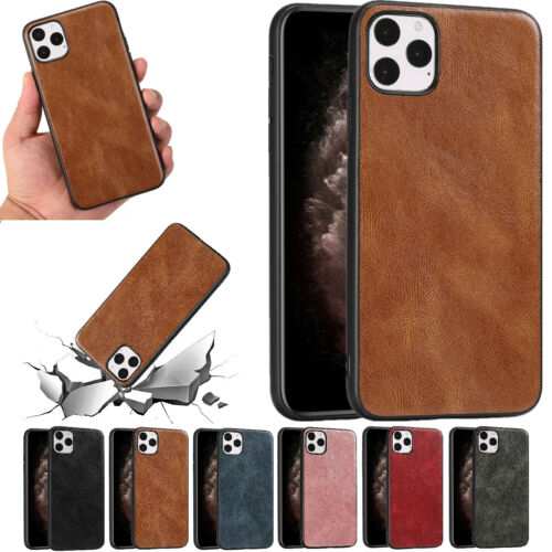 For IPhone 12 Pro Max 12 Mini / SE 2020 Plastic Leather Rugged Shockproof Cover - $5.96