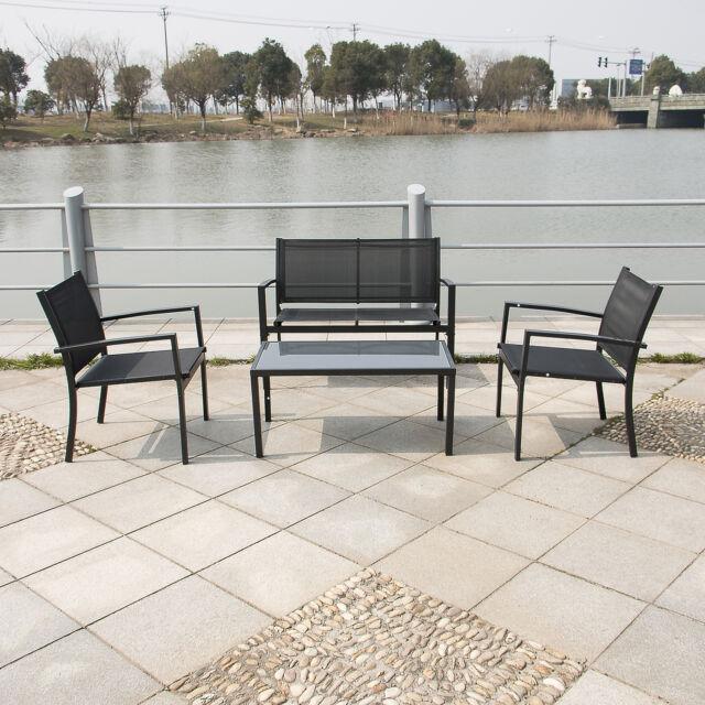 walcut outdoor/indoor garden patio seat furniture with coffee