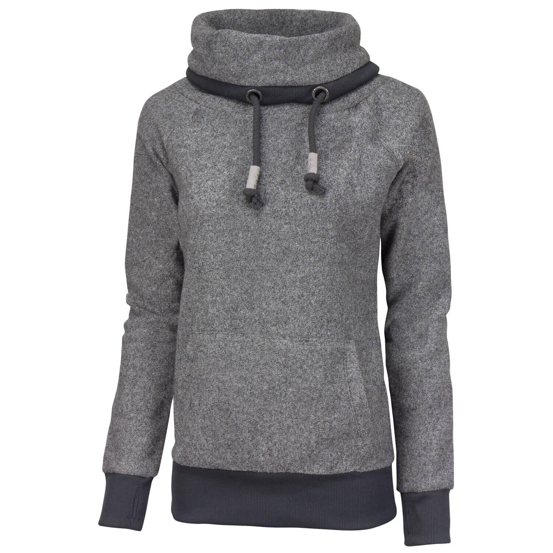 SUBLEVEL Damen Sweatshirt Sweater Pullover Pulli mit Kängurutasche Daumenlöcher