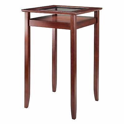 Winsome Wood 94127 Halo Dining, Walnut Halo Dining Table