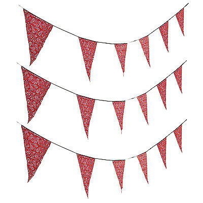 100ft Red Bandana Print Pennant Banner WILD WEST Western Cowboy rodeo Party](Red Bandana Decorations)