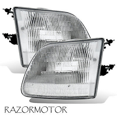 97-03/02 Replacement Headlight Set For Ford F150/Expedition Pair Bulb -