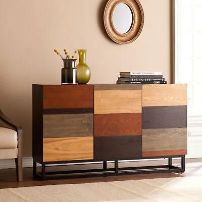 3-Door Office Credenza Buffet Sideboard Storage Cabinet Mid-Century Modern Style