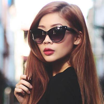 Sexy Women Cat Eye Vintage Fashion Sunglasses Black or Brown Frame (Sexy Sunglasses)