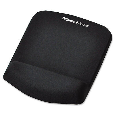 Fellowes PlushTouch Mouse Pad with Wrist Rest Foam Black 7 1/4 x 9-3/8 9252001