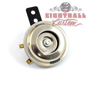 Mini Hupe chrom für Harley Motorrad Oldtimer Horn 100 DB  E-geprüft Edelstahl